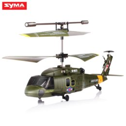 Wholesale Gunship Helicopter - SYMA S102G Mini 3CH RC Helicopter with Gyroscope Gunships Simulation Indoor Radio Remote Control Toys for Military Enthusiasts