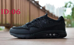 Wholesale Increase Knitting - 2016 New knitted Max 87 Running Shoes Mens Sneakers Breathable Fashion Athletic Walking Maxes 87 Training Sporting Shoes