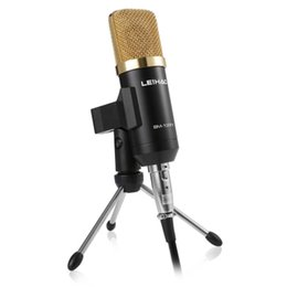 Wholesale Recording Microphone Usb - BM-100FX USB power supply Echo Function volumn adjustable Condenser Sound Recording Wired Microphone with Stand for Radio Braodcasting