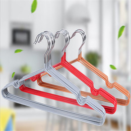 Wholesale Skidproof Clothes - Multifunctional Skidproof Metal with PVC Coating Wire Clothes Hanger Colorful Eco-friendly Dry and Wet Dual-use Clothes Racks
