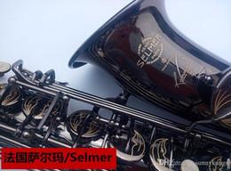 Wholesale tuning plate - France Selmer  54 E-flat alto saxophone instruments plating genuine black pearl black instrument saxophone