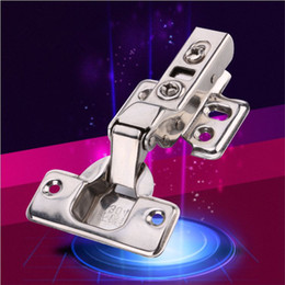Wholesale Hydraulic Hinges - Wholesale 10pcs Stainless Steel Hydraulic Soft Closing Concealed Kitchen Cabinet Door Hinges Full Half Inset Overlay Self Closing Flush