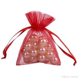 Deutschland 100 Stück rot Organza Schmuck Geschenk Beutel 7x9 cm (2,7X 3,5 Zoll) Kordelzug Organza Geschenk Süßigkeiten Taschen DIY Geschenk Versorgung