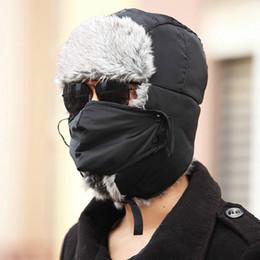 Wholesale Earflap Hat Adult - 2016 New Men Women Winter Warm Bomber Hats Caps Russian Trapper Aviator Trooper Earflap Outdoor Sport Snow Ski Hat Cap