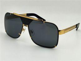 Wholesale Big Black Retro - new men vintage designer sunglasses retro design big face logo 2133 square frame rimless UV400 lens top quality steampunk style with box
