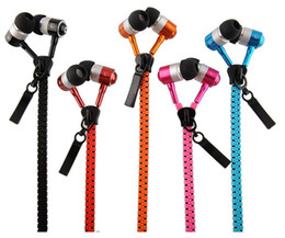 Wholesale Earphones Iphone4s - Zipper Earphone Headset earphone Concise earphone headphone for Iphone4s,5s,6 ,Samsung,LG,HTC with retail box factory price