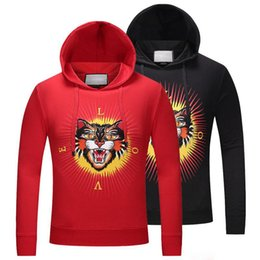 Wholesale Gold Blinds - Europe Autumn Fashion Blind For Love Men Women Luxury Hoody Sweatshirts Towel Embroidery Tiger Flower Stars lover Pullover Hoodie