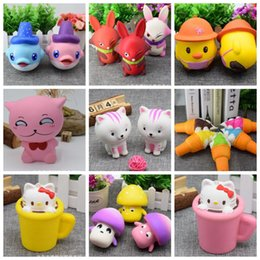 Canada Squishy Toy squishies Jumbo Animal squishy Sweet Scented Charms Slow Rising Dolphins Glace aux champignons Cat Squeeze KKA2794 animal ice cream on sale Offre