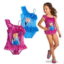 Wholesale Kids Body Suit Wholesale - Childrens Swimming One Piece Swim Wear Girls Bikini Kids Slim Printed Swimsuits Childrens Lace Swimwear 2016 Girls Body Suit