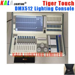Wholesale Dmx Controller Lcd - (Flycase) High Quality Avolite DMX512 Lighting Controller Titan 9.0 Operating System 8-port DMX output LCD Display Tiger Touch Console
