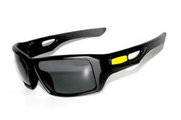 Wholesale Black Eyepatch - NEW BRAND IN ORIGINAL BOX Eyepatch 2 SUNGLASSES black W GREY IRIDIUM LENS YELLOW LOGO FOR MAN UV400 Polarized SUNGLASS Great AAA