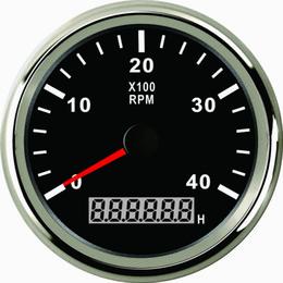 Calibro del tachi del tachimetro di RPM con il contatore orario per l'yacht della barca del camion dell'automobile 0-4000RPM 85mm con la lampadina da