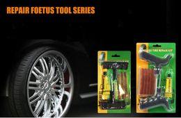Wholesale Motorcycle Repair Tool Kit - Auto Car Motorcycle Tubeless Vacuum Tire Tyre Puncture Plug Repair Tool Kit Hand Tool Parts