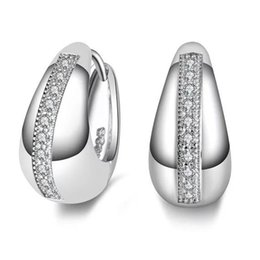 Wholesale Cheap Natural Diamonds - cheap 925 Sterling silver New Design jewelry diamond earrings Fashion Jewelry beautiful wedding gift Natural zircon bare Diamond Earring
