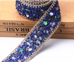 Wholesale Custom Cut Diamonds - New custom design!crystal rhinestone banding,2pcs lot,fancy bridal wedding dress trim,wedding cake decorative Bling opal chain