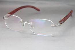Decoração do desenhador on-line-Hot Sem Moldura De Ouro De Madeira 8200757 Óculos designer de armações de óculos mulheres Decor Moldura De Madeira Frame Tamanho: 56-18-135mm