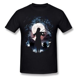 Wholesale Fantastic Paintings - Fantastic Moondance men's fancy tees shirt art painting printed male T-Shirt a gift for boy plain cotton soft tops novelty.