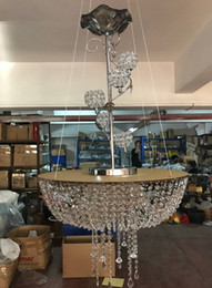 Wholesale Fairy Display - big tall wedding Cake supplies Stand Crystal Acrylic multi-layer cake table centerpieces crystal wedding flower holder display