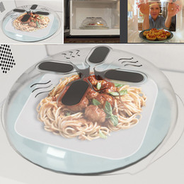 Wholesale Food Covers - Food Splatter Guard Microwave Hover Anti-Sputtering Cover Lid Kitchen Steam Tool 2016 New Free Shipping XL-192