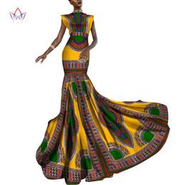 Wholesale Ankara Dresses - Summer Dress Women Dashiki African Print Clothing Sleeveless Ankara Mermaid Party Long Dress Plus Size 6XL WY2013