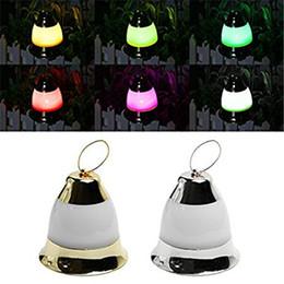 Musique de cloche de noël en Ligne-LED Décoration De Noël Musique Jingle Bell Lights Fairy Lights Alimenté par Batterie Avec Joyeux Noël Musique Pour Jardin Extérieur Intérieur