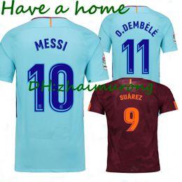 Wholesale Messi Quality Jersey - thai quality 17 18 MESSI SUAREZ O.DEMBELE soccer jersey 3RD Camisas ARDA INIESTA SERGIO PIQUE I.RAKITIC NEYMAR JR Spain football shirts