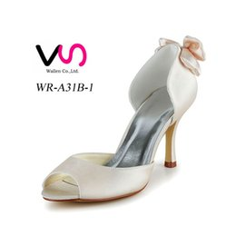 Wholesale Shoes For Gold Sequin Dress - Dyeable Satin 8cm Heel Pump Delicated Elegant Style Pointy Shoe Bridal Shoe Wedding Dress Shoes Handmade Shoe for Wedding Large Small Size