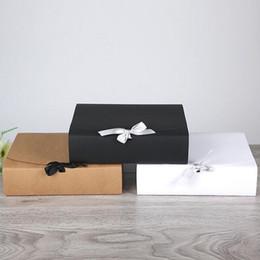 60 pçs / lote 31 * 25.5 * 8 cm Grande Branco Kraft Caixa de Presente de Papel Grande tamanho Para T-shirt Cachecol Para Favor Do Casamento de Aniversário Por Atacado ZA4216 de