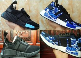 Wholesale Diamond Sneakers - Newest arrive black diamond NMD R1 PK BOOST Running Sneakers Fashion Running Shoes NMD r1 R2 PrimeKnit Real Boost Sneakers 2018 size 36-45