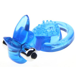 Wholesale Double Cock Rings - Cock Rings Cockrings Penis clit toy Dual Vibrating Cock Ring Soft Sex Ring Vibrator Double Penis Ring Sex Prodcuts for Man Delay Ejaculation
