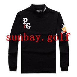Wholesale Blue Golf Tees - GOLF PEARLY GATES T-SHIRTS OUTDOOR APPAREL GOLF WEAR PG 89 CLUBS CLOTHING cotton LONG sleeve tees tops FOR MEN SIZE
