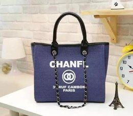Wholesale Handbags Name Brands - 2017 fashion Famous fashion brand name women handbags Canvas Shoulder bag chains of large capacity bags brand C bag Luxury watches TAG