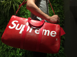 Wholesale Black Nylon Locking - Backpack Authentic Quality LVxSupreme Limited Red Black Travel Bags Christopher 34x13x47cm Men Women School Bag Sport Outdoor Packs Bags