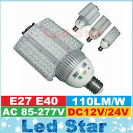 Wholesale E27 24v - High Power Cree E40 E27 LED Street Light 30w 40w 60w 80w 100w Led lights bulbs Yard Garden Road Lighting Lamp