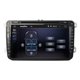 Wholesale Dvd Player Skoda Fabia - HD Double DIN 8 Inch Capacitive multi-touch screen Android 5.1 Car DVD Player for VW SKODA Octavia FABIA SUPERB GPS WIFI 3G