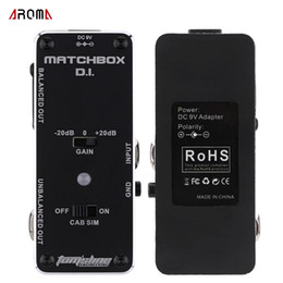 Wholesale Electric Bass Guitar Effect - New Arrival! AROMA AMX-3 MATCHBOX D.I. Transfer Guitarra Guitar or Bass Signal to Audio System Mini Analogue Effect Pedal
