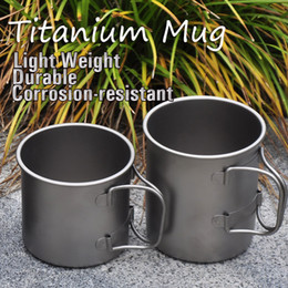 Wholesale Titanium Cooking Pots - Wholesale-Ti-time Outdoor Camping Cooking Titanium Kettle Pot Double Layer 300ML (One Piece)