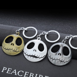 Wholesale New Novelty Items - New Arrival Skull Key Chain Fashion Alloy Anime Keychain Novelty Items Creative Cool Trinket Charm For Unisex Wholesale
