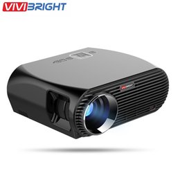 Wholesale Full Cinemas - Wholesale- VIVIBRIGHT GP100 4K Full HD LED Projector 1080P Home Theater Cinema Video Projectors 3200 Lumens Built-in speaker Basic Version