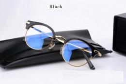 blaue mondbrille Rabatt 2017 Brand New Edition V Marke Große Box Halbe Gläser Rahmen Weibliche Männliche Anti-strahlung Auge Myopie Gläser BLUE MOON