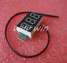 Wholesale Panel Regulator - Wholesale-1pcs two-wire 0.36` blue LED DC Digital Voltmeter Panel Meter DC 0-32V