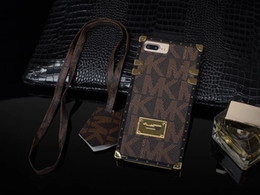 Wholesale Iphone Rope - For IPhone 7 Plus Luxury Leather Cases For IPhone 6s 7 Plus Shock Proof Cellphone Protective Cover With Rope