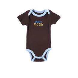 Wholesale Cheap Kids Clothing Brands - 2016 Hot Sale New Born Baby Clothes 100% Cotton Brand Kid Clothing Unisex Comfortable One Piece Bodysuits 0-12 Months Cheap