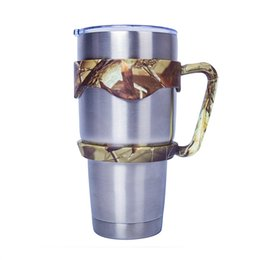 Wholesale Travel Mugs Handles - IN STOCK! CAMO Tumbler Handle Yeti Handle for 30oz Stainless Steel Portable Yeti Cup camouflage Yeti Tumbler Rambler Handle for Travel Mug
