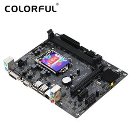 Wholesale Intel Motherboard Cpu Desktop - Colorful C.H81M plus V24A Motherboard Mainboard Systemboard for Intel H81 LGA1150 DDR3 SATA3 USB3.0 for Desktop CPUS Video card