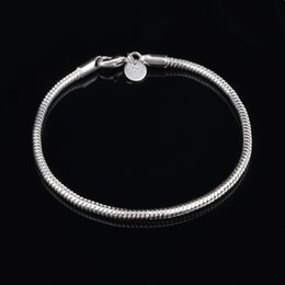 Wholesale 925 Stamped Silver Chains - fashion 3MM 925 Silver plated Snake Charm Chain men Bracelet mens bracelets bangle fashion jewelry stamped bracelet free shipping 2016