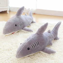 Wholesale Giant Stuffed Animals For Kids - Large size 70cm giant shark plush shark whale stuffed fish ocean animals kawaii doll toys for children kids carton stuffed toy free shipping
