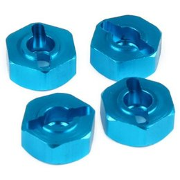 Wholesale Himoto Rc - 4 unids Aluminum Wheel Hex Nut 12 MM Con Alfileres Disco Hubs 4 P HSP 102042 (02134) 1 10 Piezas de Actualización Para 4WD RC Car Himoto 330