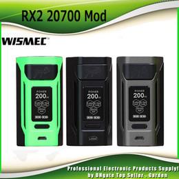 Wholesale E Cigarette Boxes - Original Wismec Reuleaux RX2 20700 Box Mod 200W Output E Cigarette Vape Ecig Mods with Big OLED Display 100% Authentic
