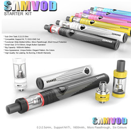 Wholesale Electronic Cigarette Ego Support - Beautiful SAMVOD Starter Kits Electronic Cigarettes 1600mAh SAMVOD Battery Sub Ohm SAMVOD Tank Atomizer Support NI TI EGO-ONE Coil